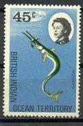 British Indian Ocean Territory1968 45 Cent  Garfish Issue #23  MNH - British Indian Ocean Territory (BIOT)