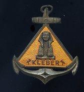 Ancien Insigne Marine émaillé -- Kleber  -- Fabrication Augis Lyon  Ins2 - Marine