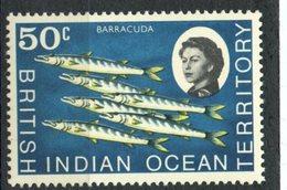 British Indian Ocean Territory1968 50 Cent  Barracuda Issue #24  MNH - British Indian Ocean Territory (BIOT)
