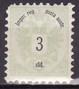 LEVANTE 1883 ANK 9  3 SOLDI MH* - Unused Stamps