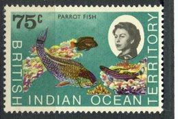 British Indian Ocean Territory1968 75 Cent  Parrot Fish Issue #26  MNH - British Indian Ocean Territory (BIOT)