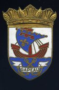Ancien Insigne Marine émaillé -- Gapeau  -- Fabrication Arthus Bertrand Paris  Ins2 - Marine