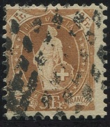 1616 -  3 Fr. Stehende Helvetia Mit Zollstempel - SBK Katalogwert CHF 300.00 - 1882-1906 Armoiries, Helvetia Debout & UPU