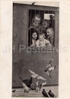 Painting By N. Yaroshenko - Life Is Everywhere , 1888 - Doves - Birds - Russian Art - 1946 - Russia USSR - Unused - Schilderijen
