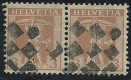 1617 -  3 Rp. Tellknabe Im Paar Mit Zollstempel