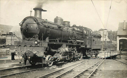 LOCOMOTIVE N°130-02 Saint Sulpice Laurière (photo Format Carte Ancienne, Collection Jean Bornet). - Trains