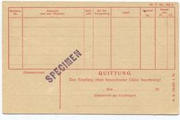 1619 - SBB Ganzsachen-Dienstpostkarte SPECIMEN - Avis Für Eilgüter - Entiers Postaux