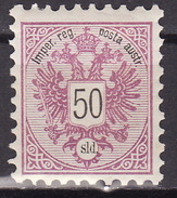 LEVANTE 1883 ANK 13  50 SOLDI MLH ROTLILA - Neufs