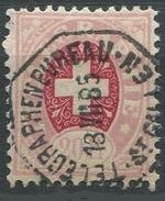 1620 -  20 Fr. Telegraphenmarke Mit Vollstempel TELEGRAPHENBUREAU ST. GALLEN 18.VII.85 - Télégraphe