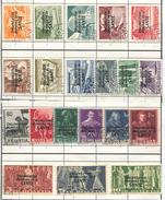 1622 - 5 Rp. - 10 Fr. OMS Serie Mit Einheitlichen Eckstempeln Links Unten - Dienstpost
