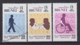 Brunei 1981 Yvert 275- 77, International Year Of Disabled Persons - MNH - Brunei (1984-...)