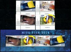 NIUE 2014 Fish, Fishes, Marine Life, Fauna MNH - Niue