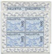 1623 -  ABART Kleiner STICKEREIBLOCK Postfrisch Zusammen Mit Einem Normalen Block - Blocks & Kleinbögen