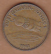 AC - YURI GAGARIN VOSTOK 1 1961 SHELL TOKEN - JETON - Monetary /of Necessity