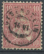 1626 - GYSENSTEIN Auf 10 Rp. Sitzende Helvetia - ÜBERAUS SELTENER ZWERGSTEMPEL - 1882-1906 Wappen, Stehende Helvetia & UPU