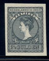 Nederlands Indië - 1902 - 2,5 Gulden Wilhelmina Type Veth Proef/Proof 49, Zwartblauw - Chosen Colour - Nederlands-Indië