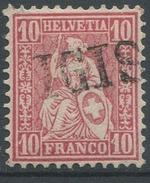 1627 - IGIS Stabstempel Auf 10 Rp. Sitzender Helvetia - 1882-1906 Wappen, Stehende Helvetia & UPU
