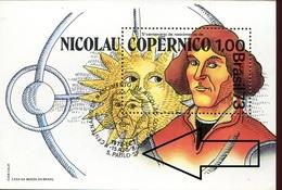 19801  Brasil, S/s MNH With Special First Day Postmark S.paulo 1973   - Kopernikus,copernic,kopernika, - Astronomùia