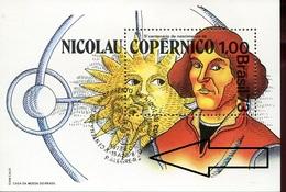 19802  Brasil, S/s MNH With Special First Day Postmark P.alegre 1973   - Kopernikus,copernic,kopernika, - Astronomùia