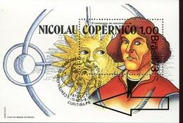 19803  Brasil, S/s MNH With Special First Day Postmark Curitiba  1973   - Kopernikus,copernic,kopernika, - Astronomùia