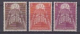 Europa Cept 1957 Luxemburg 3v ** Mnh (original Gum) (35156) - Europa-CEPT