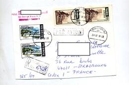 Lettre Recommandee Bucarest Sur Lemn Birsana - Postmark Collection