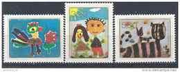 1974 YOUGOSLAVIE 1458-60** Europe, Dessins D´enfants, Coq, Chats - Neufs