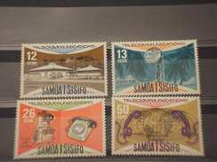 SAMOA  S. - 1977 TELECOMUNICAZIONI  4 VALORI - NUOVI(++) - Samoa