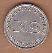 AC -  DENMARK KS KOBENHAVNS SPORVEJE RABATPOLET MERMAID TOKEN - JETON - Monetary /of Necessity