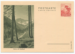 1633 - Liechtenstein 20 Rp. Bildpostkarte Enzian - Ungebraucht - Ganzsachen