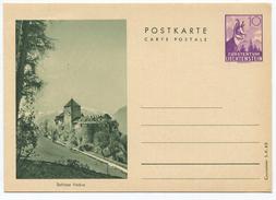 1634 - Liechtenstein 10 Rp. Bildpostkarte Gemse Ungebraucht - Entiers Postaux