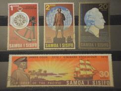 SAMOA  S. - 1970 NAVIGATORE C. 4 VALORI - TIMBRATI/USED - Samoa