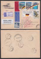Waldkirchen Eil-Lp-Brief Valley Anguilla West-Indies, Dabei R-Zettel Von London Und Zurück-Vermerk, Brandenburger - Covers