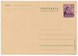 1635 - Liechtenstein 10 Rp. Postkarte Gemse Ungebraucht - Entiers Postaux