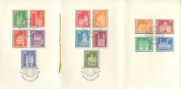 1637 - 1960 Postgeschichtliche Motive Und Bauten Im PTT-Faltblatt Mit ET-Stempel