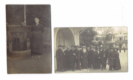 LOT 2 - Carte Photo - LUXEMBOURG - MONDORF LES BAINS Femmes Hommes Thème Mode Jupe Costume Chapeau Curé Parapluie 1914