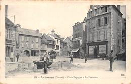 23-AIBUSSON- PLACE ESPAGNE- LA FONTAINE - Aubusson