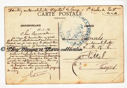 WWI 1916 - TAMPON HOPITAL DE ST NICOLAS DU PORT - FEUTRY AUTOMOBILISTE VIGNALS A VITTEL - MEURTHE ET MOSELLE - MILITAIRE - Marcophilie (Lettres)