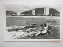 Postcard Santos Brazil Praia Do Guaruja By Photo Postal Colombo Of Sao Paulo My Ref B1973 - São Paulo