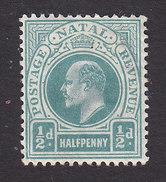 Natal, Scott #81, Mint Hinged, King Edward VII, Issued 1902 - Natal (1857-1909)
