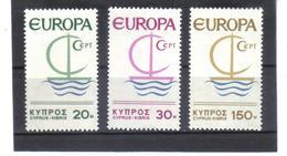BAU771 EUROPA-CEPT 1966 ZYPERN MICHL  270/72  Postfrisch SIEHE ABBILDUNG - Zypern (Republik)