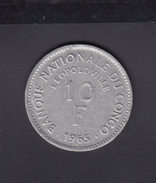 Congo 10 Francs 1965 - Congo (Repubblica Democratica 1964-70)