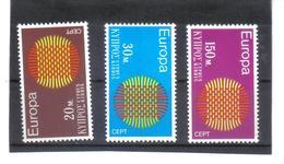 BAU775 EUROPA-CEPT 1970 ZYPERN MICHL  332/34  Postfrisch SIEHE ABBILDUNG - Zypern (Republik)