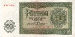 ALLEMAGNE DEM. REP.   50 Deutsche Mark   1948   P. 14a - [ 6] 1949-1990 : GDR - German Dem. Rep.