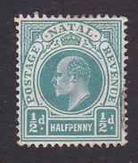 Natal, Scott #101, Mint No Gum, King Edward VII, Issued 1904 - Afrique Du Sud (...-1961)