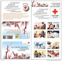 """CARNET BC 1132 """"LA CROIX-ROUGE FRANCAISE EN ACTION"""" Autoadhésif, Neuf Luxe NON PLIE Bas Prix. - Croix Rouge"""