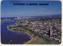 SOUTHPORT To Surfers Paradise, Aerial View Across The Broadwater,   Nice Stamp - Gold Coast