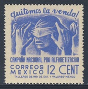 Mexico 1945 Mi 889 ** Removing Bandage - Literacy Campaign / Abnahme Einer Blindenbinde - Volksbildung - Talen