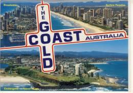 GOLD COAST, Multi View W. Broadwater, Coolangatta - Tweed Heads, Surfers Paradise , Nice Stamp - Gold Coast