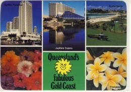 GOLD COAST, Multi View W. Jupiters Casino, Coolangatta, .... ,  Nice Stamp - Gold Coast